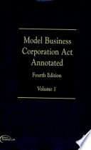 Model Business Corporation Act Annotated