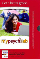 Introducing Psychology: Brain, Person, Group Mypsychlab Access Code Card