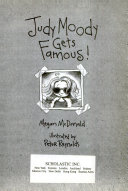 Judy Moody Gets Famous  Book