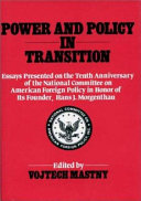 Power and Policy in Transition