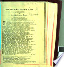 To Thorwaldsen's Lion at Lucerne. A school-boy's dream. [Signed, W. H. H., i.e. W. H. Hyett.] Eng. & Lat