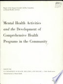Mental Health Activities and the Development of Comprehensive Health Programs in the Community
