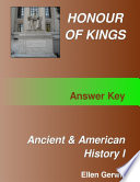 Honour Of Kings Ancient And American History 1 Test Packet Answer Key Book PDF