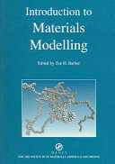 Introduction To Materials Modelling Book PDF