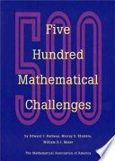 Five Hundred Mathematical Challenges