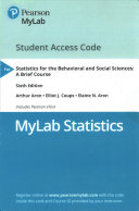 MyLab Statistics for the Behavioral and Social Sciences Access Code Book