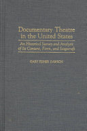 Documentary Theatre in the United States