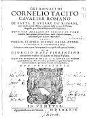 Gli annali di Cornelio Tacito ...