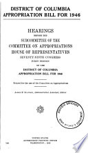 District Of Columbia Appropriation Bill For 1946