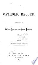 The Catholic Record Book PDF