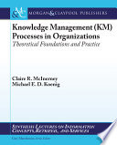 Knowledge Management  KM  Processes in Organizations Book