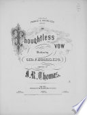 The Thoughtless Vow Book