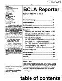B C L A Reporter