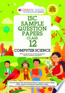Oswaal ISC Sample Question Papers Class 12 Computer Science Book (For 2020 Exam)