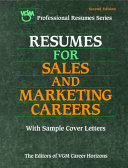 Resumes for Sales and Marketing Careers