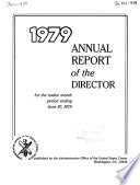 Annual Report of the Director for the Twelve Month Period Ending