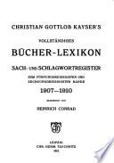 Bücher-Lexikon, 1750-1910