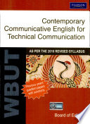 Contemporary Communicative English For Technical Communication