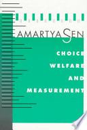 Choice Welfare And Measurement