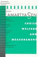 Choice, Welfare and Measurement