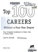 Top 100 Careers Without a Four year Degree Book