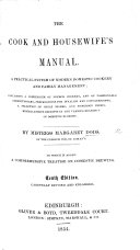 The Cook and Housewife s Manual     The fifth edition  revised and enlarged  etc