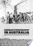 German Ethnography in Australia