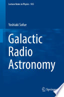 Galactic Radio Astronomy Book