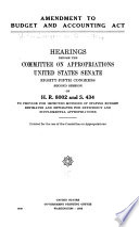 Amendment to Budget and Accounting Act