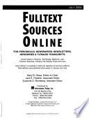 Fulltext Sources Online  , Band 16,Ausgabe 2