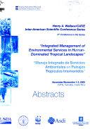 """""""Integrated Management of Environmental Services in Human-Dominated Tropical Landscapes""""""""Manejo Integrado de Servicios Ambientales en Paisajes Tropicales Intervenidos"""""""