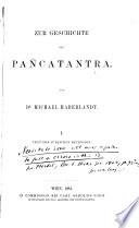 Zur Geschichte des Pañcatantra