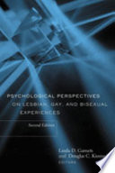 Psychological Perspectives On Lesbian Gay And Bisexual Experiences