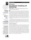 Groundwater Sampling and Monitoring