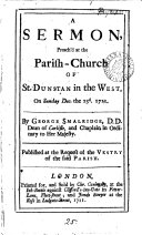 A Sermon, Preach'd at the Parish-church of St. Dunstan in the West, on Sunday Dec. the 23d. 1711