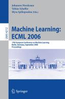 Machine Learning  ECML 2006