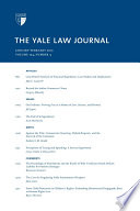 Yale Law Journal Volume 124 Number 4 January February 2015