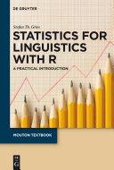 Statistics for Linguistics with R Pdf/ePub eBook