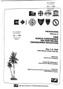 Proceedings World Conference On Continuing Engineering Education