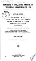 Departments Of State Justice Commerce And Judiciary Appropriations For 1953