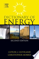 Dictionary Of Energy Book