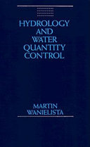 Cover of Hydrology and water quantity control