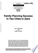 Family Planning Success in Two Cities in Zaire