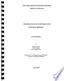Rehabilitation Techniques for Concrete Bridges Book