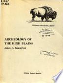 Archeology Of The High Plains