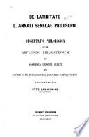 De Latinitate L.Annael Senecae philosophi