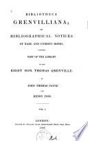Bibliotheca Grenvilliana