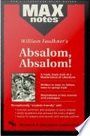 Absalom Absalom Maxnotes Literature Guides