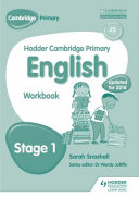 Hodder Cambridge Primary English: Work Book Stage 1