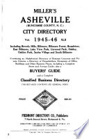 Miller's Asheville (Buncombe County, N.C.) City Directory